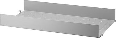 String Furniture String metal shelf, 58 x 30 cm, high, grey