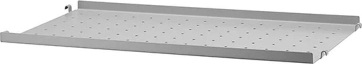 String Furniture String metal shelf, 58 x 30 cm, low, grey