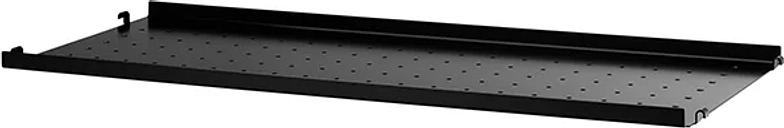 String Furniture String metal shelf, 78 x 30 cm, low, black