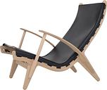Klassik Studio PV Lounge Chair, oak - black leather