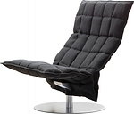 Woodnotes K chair, swivel base, wide, black