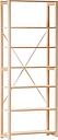Lundia Classic open shelf, high, natural