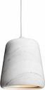 New Works Material pendant, white marble