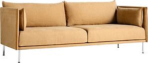 Hay Silhouette sofa 3-seater, Linara 142/Silk cognac - chrome