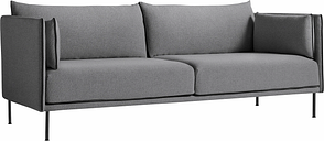 HAY Silhouette sofa 3-seater, Coda 182/Silk black - black steel