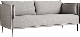 Hay Silhouette sofa 2-seater, Ruskin 33/Silk black - black steel