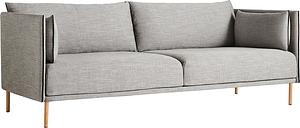 Hay Silhouette sofa 3-seater, Ruskin 33/Silk black - oiled oak