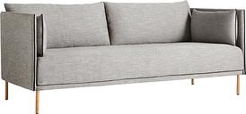 HAY Silhouette sofa 2-seater, Ruskin 33/Silk black - oiled oak