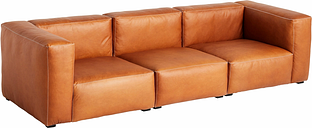 Hay Mags Soft sofa, 3-seater, 279 cm, high arm, Silk 0250