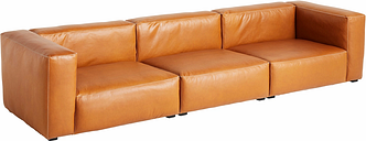 Hay Mags Soft sofa, 3-seater/329,5 cm, high arm, Silk 0250