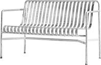 HAY Palissade dining bench, hot galvanised
