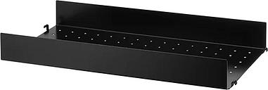 String Furniture String metal shelf, 58 x 30 cm, high, black