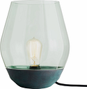 New Works Bowl table lamp, Verdigrised copper - green glass