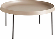 HAY Tulou coffee table 75 cm, mocca - black