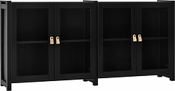Lundia Moments cabinet, low, black