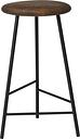 Warm Nordic Pebble bar stool, 65 cm, smoked oak - black