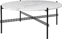 Gubi TS coffee table, 80 cm, black - white marble