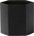 Ferm Living Hexagon pot, L, black