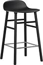 Normann Copenhagen Form barstool 65 cm, black - black oak