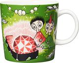 Arabia Moomin mug, Thingumy and Bob, green
