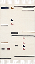 Ferm Living Kelim rug, Triangles, 80 x 140 cm