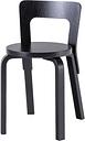 Artek Aalto chair 65, all black