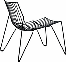 Massproductions Tio easy chair, black