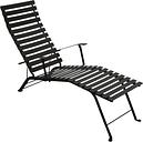 Fermob Bistro Metal chaise longue, liquorice