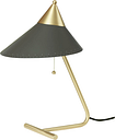 Warm Nordic Brass Top table lamp, charcoal