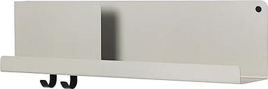 Muuto Folded shelf, grey, medium