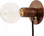 Frama E27 wall lamp, small, bronze