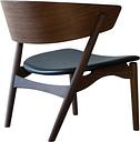 Sibast No 7 Lounge chair, smoked oak - black leather