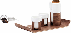Tonfisk Design Warm tea set, walnut