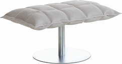 Woodnotes K ottoman, wide, base plate, natural/white