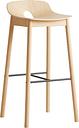 Woud Mono bar stool 75 cm, oak