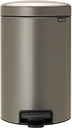Brabantia newIcon pedal bin, platinum