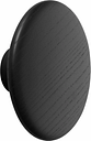 Muuto Dots Wood coat hook, black