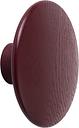 Muuto Dots Wood coat hook, burgundy