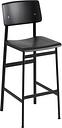 Muuto Loft bar stool 75 cm, black