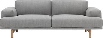 Muuto Compose sofa, 2-seater, oak legs