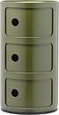 Kartell Componibili storage unit, 3 modules, green