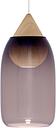 Mater Liuku Drop pendant, violet glass shade