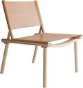 Nikari December chair, ash - natural leather