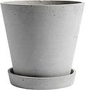 HAY Flowerpot and saucer, XL, grey