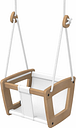 Lillagunga Lillagunga Toddler swing, oak - white seat and rope
