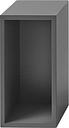 Muuto Stacked 2.0 shelf module w/ background, small, grey