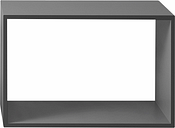 Muuto Stacked 2.0 shelf module, large, grey