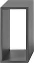 Muuto Stacked 2.0 shelf module, small, grey