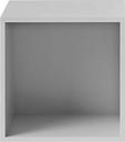 Muuto Stacked 2.0 shelf module w/ background, medium, light grey
