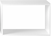 Muuto Stacked 2.0 shelf module, large, white